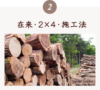 在来・2×4・ 施工法